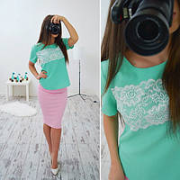 Блузка стильная модная c кружевом разные цвета SRB49