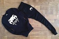 Мужской Спортивный костюм Venum черный(с большим принтом)