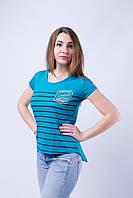 Стрейчевая женская футболка с рисунком
