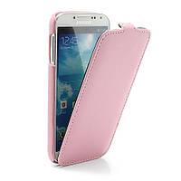 Чехол книжка Melkco Premium Leather для Samsung Galaxy S IV S4 i9500, розовый