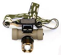 Фонарь налобный светодиодный аккумуляторный Bailong BL-6866 на 3000W