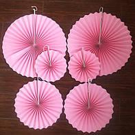 Набор гармошек  для декора 6 шт.,розовые