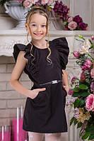 Школьное платье для девочки черное