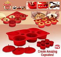 Форма для выпечки кексов силиконовая Cupcake Secret, Капкейк Сикрет, фото 1