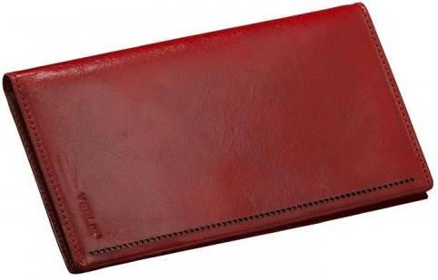 Красивая кожаная обложка для карточек Verus 34R MN красный