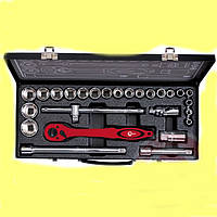 """Профессиональный набор инструмента 1/2"""", 26 единиц (гол. 8-32 мм) INTERTOOL ET-6027"""