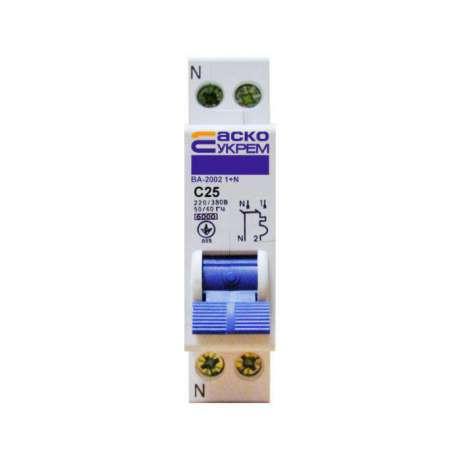 Автоматический выключатель АСКО 1п 25А