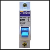 Автоматичний вимикач АСКО 1п 40А
