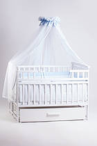 Кроватка детская трансформер DeSon с шкафчиком Белая.