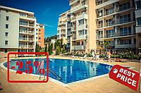 27 875 евро - двухкомнатная квартира с мебелью и техникой на 2-ой линии моря в к-се Империал
