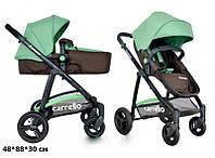 Детская универсальная коляска-трансформер 2в1 CARRELLO Fortuna CRL-9001 BROWN&GREEN