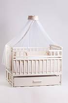 Кроватка детская трансформер DeSon с шкафчиком Ваниль.