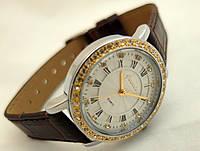 Часы женские Guardo - Italy, цвет серебро, красный ремешок, фото 1