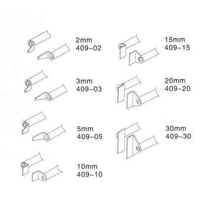 Жало 409-15 к паяльнику-термопинцету ZD-409, фото 2