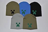 Детская трикотажная шапка Майнкрафт