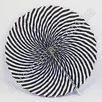 Бумажная гармошка, черно-белая, 40 см