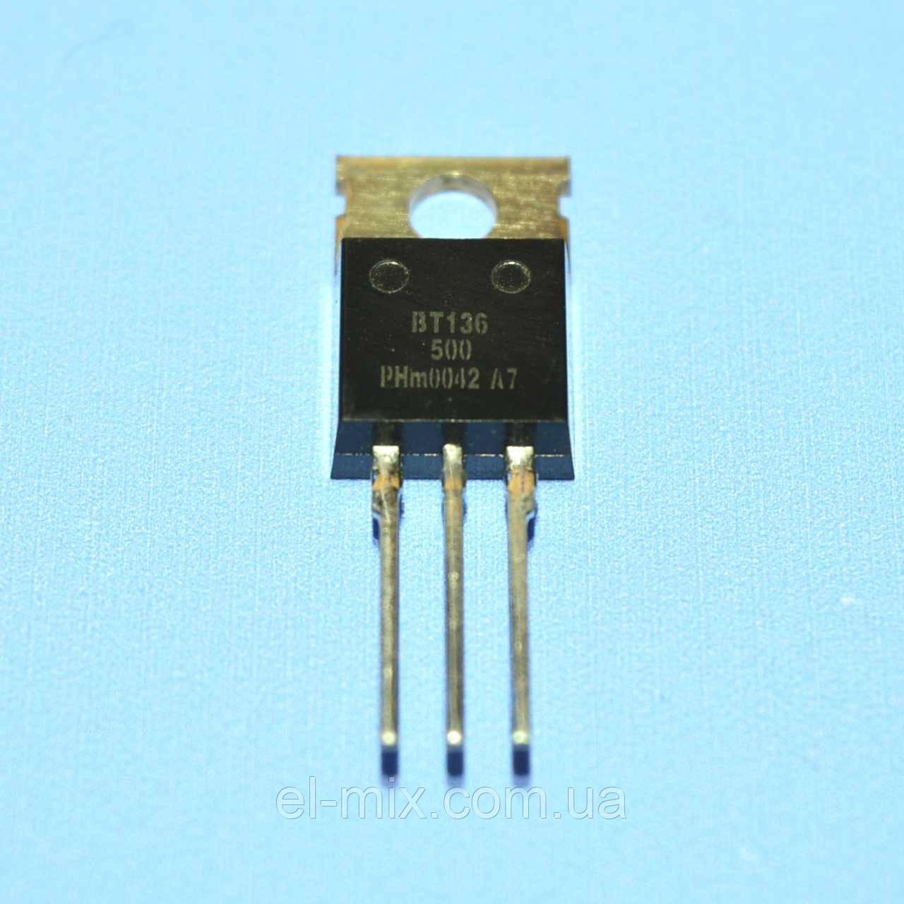 Симистор BT136-500  TO-220  Philips