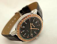 Часы женские Guardo - Italy, цвет серебро, черный ремешок