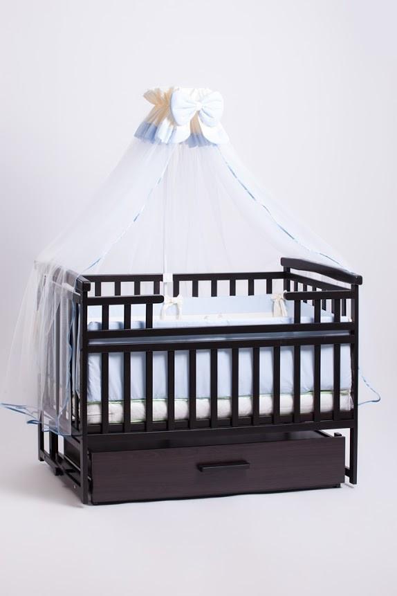 Кроватка детская трансформер DeSon с шкафчиком Орех.