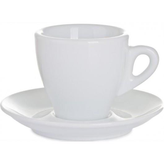 Набор фарфоровый чашка с блюдцем для капучино