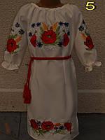 Вышитое маками платье для девочки