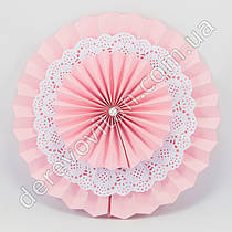 """Розетка светло-розовая с """"кружевом"""", двухсторонняя, 20 см"""
