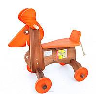 Деревянная Каталка Собака окрашенная ДУ018 Руди