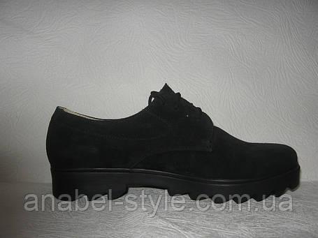 Туфли - оксфорды женские натуральная замша , фото 2
