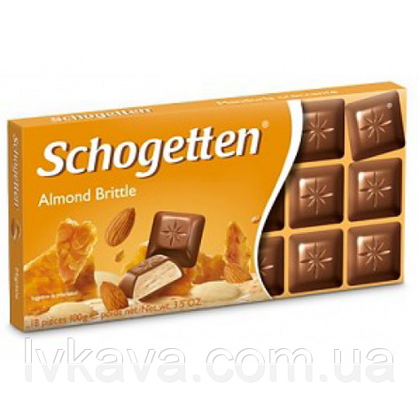 Молочный шоколад Schogetten Almond Brittle ,100 г, фото 2