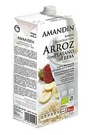 ВЕГА молоко рисовое бананово-клубничное BIO 1 л Amandin