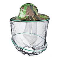 Шляпа накомарник 32 см камуфляж