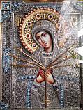 Елітна ікона Божої Матері Семистрельная скань, фото 5