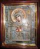 Элитная икона Божьей Матери Семистрельная скань