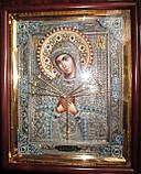 Елітна ікона Божої Матері Семистрельная скань, фото 2