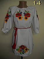 Вышитое белое платье для девочки