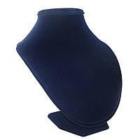 Тёмно-сиреневая бархатная подставка шея 21см для колье и подвесок