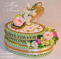 """Торт из конфет с туфелькой  """"Для леди"""""""