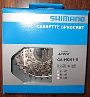 Кассета: Shimano cs-hg 41-8 (8 speed) (11-30t)