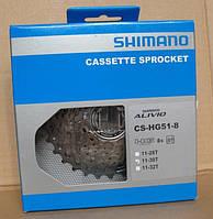 Кассета: Shimano cs-hg 51-8 (8 speed) (11-30t)