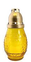 Лампадка пасхальная в стекле, желтая 1шт