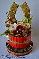 """Торт из конфет """"Подкова"""". Оригинальный подарок."""
