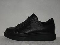 Криперсы женские модные кожаные черные