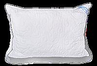 Стеганая подушка с шариком на змейке 50*50 50х50, белый