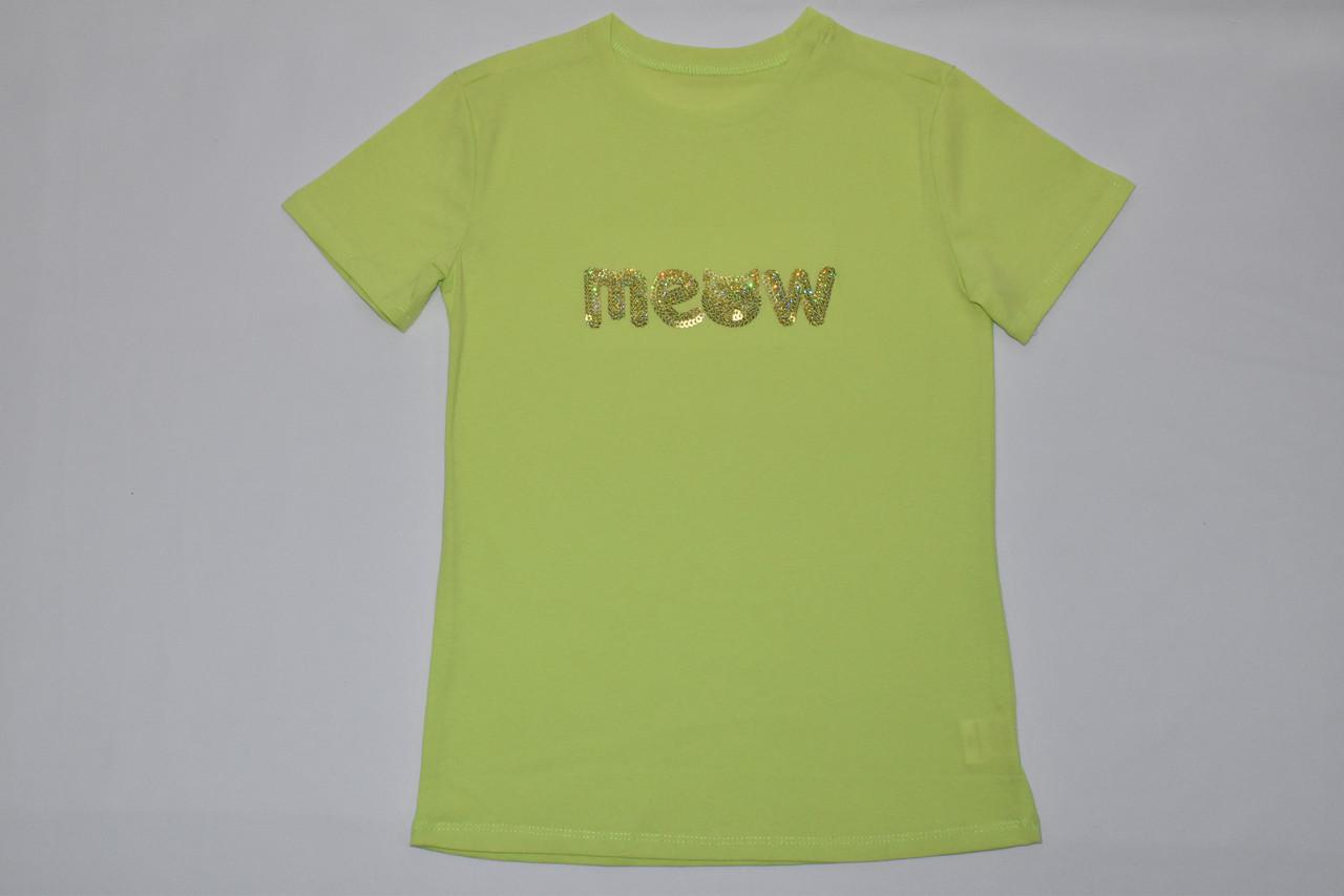 Футболка для девочки MEOW