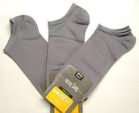 Хлопковые тонкие мужские серые носки