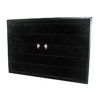 Чёрная коробка планшет под серьги (подставка для продажи серёжек)
