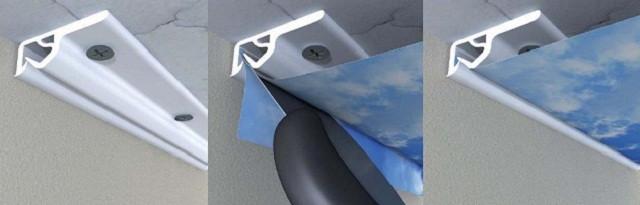 Plastikovyj profil' montazh natjazhnogo potolka