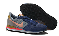 Кроссовки мужские  Nike Internationalist Blue Orange голубые с оранжевым