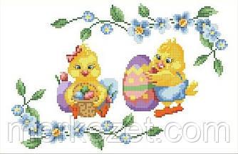 """Бисер схемы вышивки. Пасхальная салфетка для детей """"Пасхальные яйца"""". Великодній рушник"""