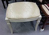 Банкетка прямоугольная деревянная для спальни и прихожей Феникс Микс мебель, цвет белый / слоновая кость